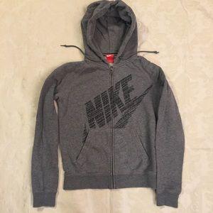 Nike Gray Rally Zip Hoodie Sweatshirt Size S